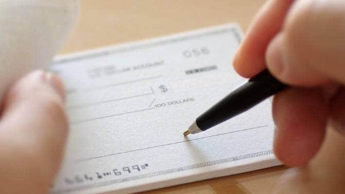 write cheque